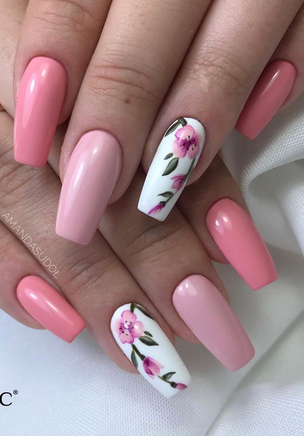 41 Flower Nail Art Designs For Inspiration