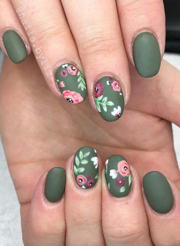 Flower Nails Art Design