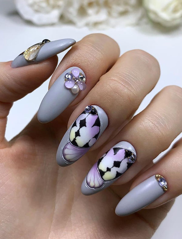 30 Beautiful Butterfly Nail Art Designs You Should Try