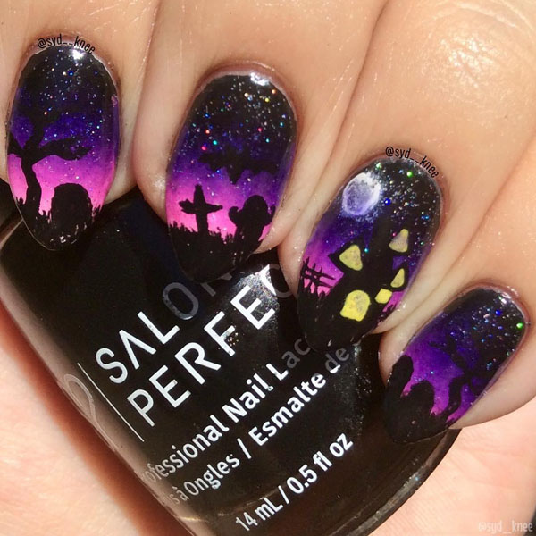 40 Halloween Nail Art Designs 2019 Page 18 Diybig