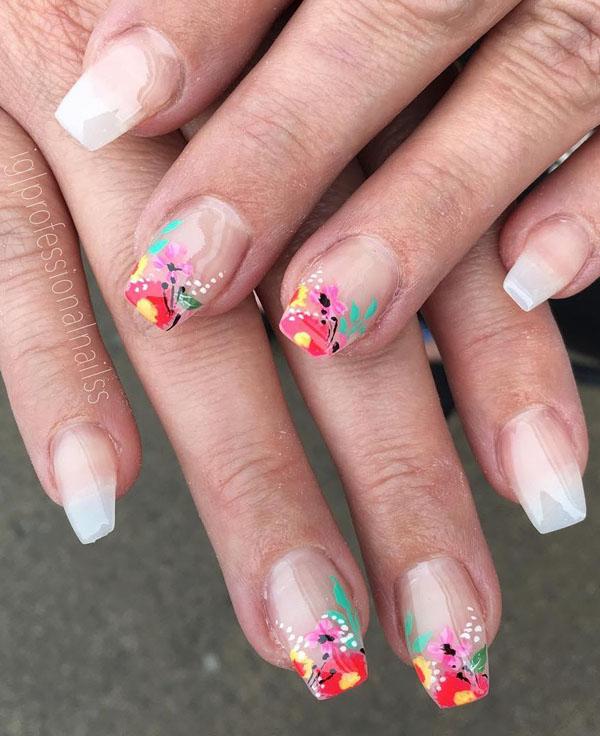 41 Flower Nail Art Designs For Inspiration