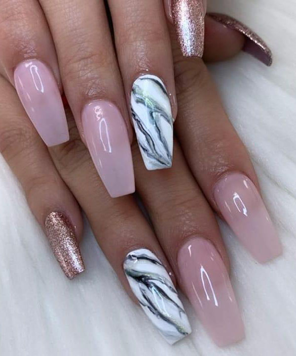 40 Elegant Coffin Nail Art Designs You Will Love