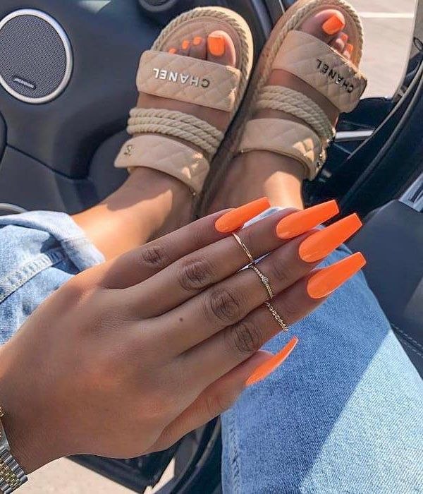 45 Stylish Orange Nail Art Designs You Will Love