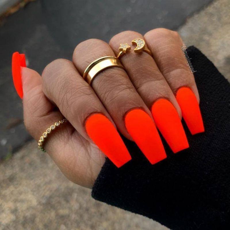 45 Stylish Orange Nail Art Designs You Will Love