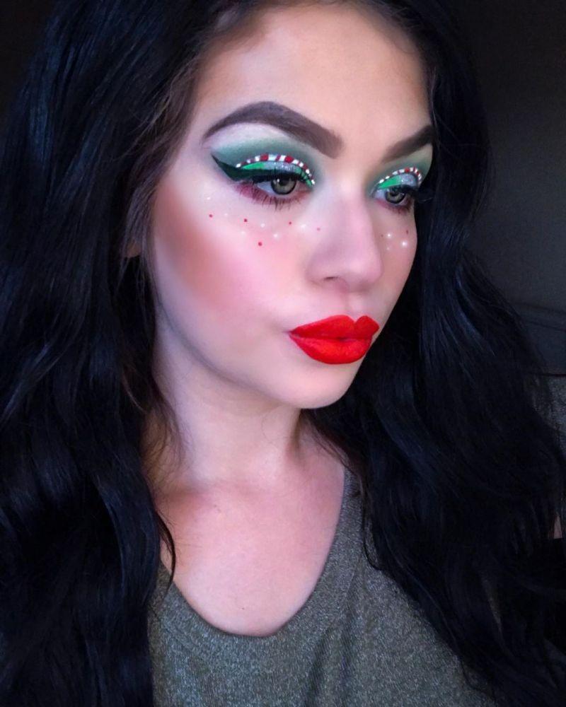 68 Glamorous Christmas Makeup Looks For Holiday