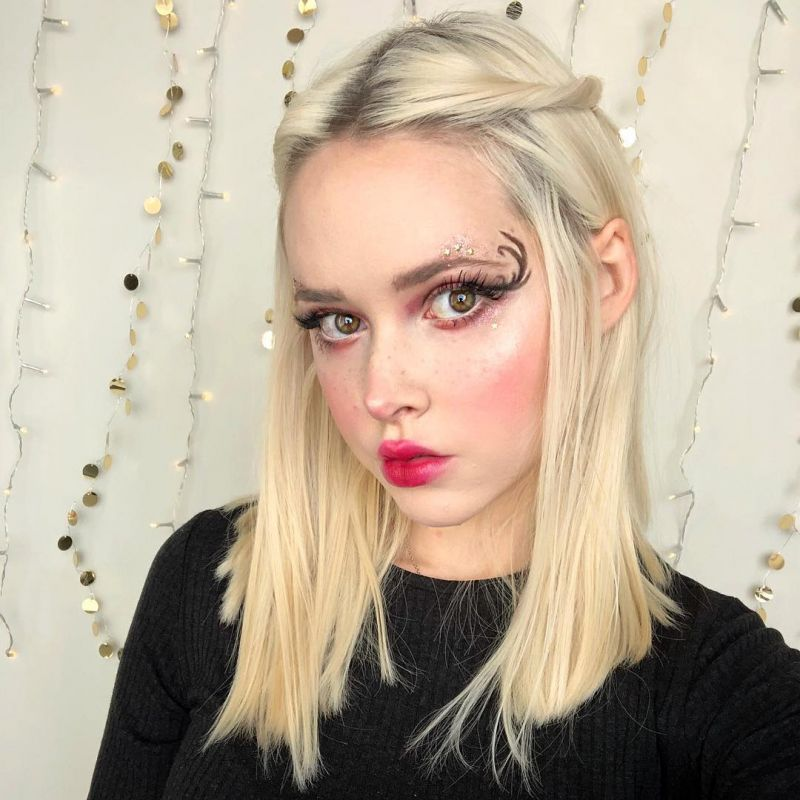 68 Glamorous Christmas Makeup Looks For Holiday