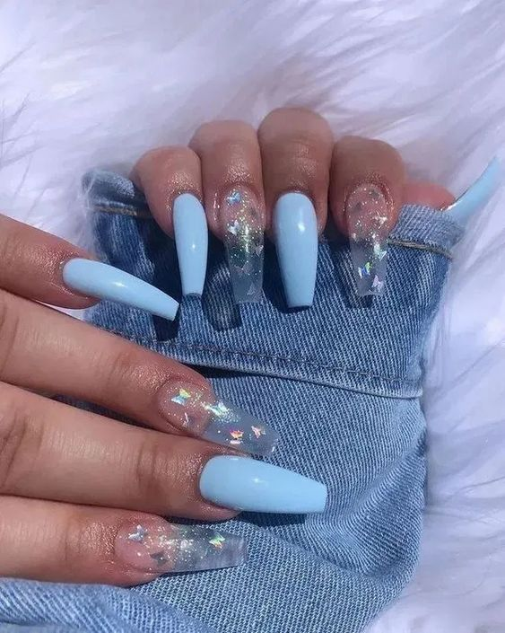 60 Gorgeous Coffin Acrylic Nails You Will Like