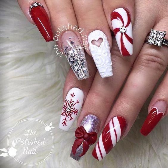 40 Pretty Christmas Snowflake Coffin Nails Anyone Will Love