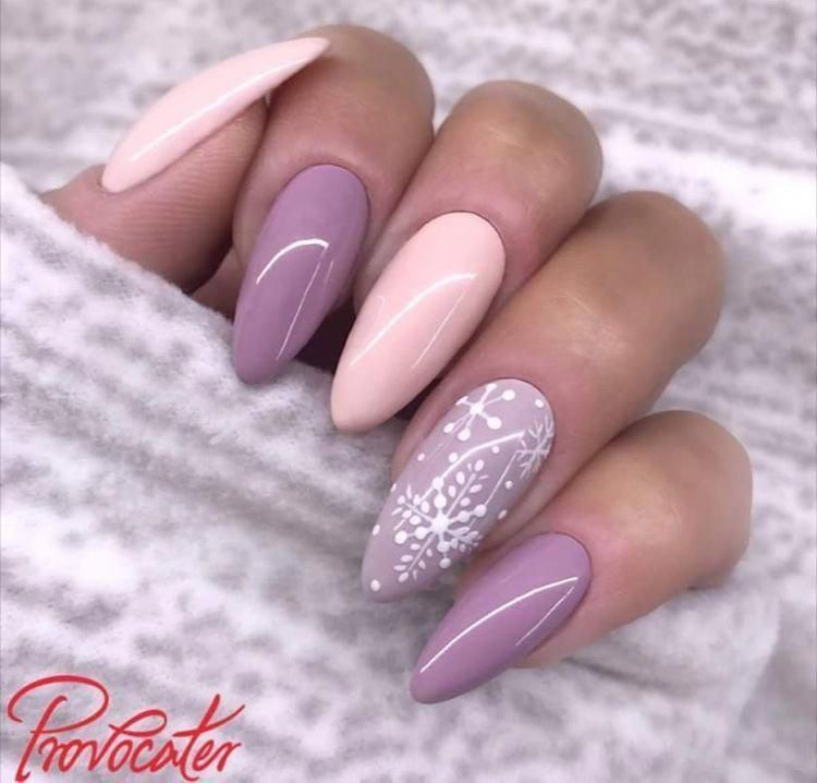 45 Trendy Pink Christmas Nails You Will Love
