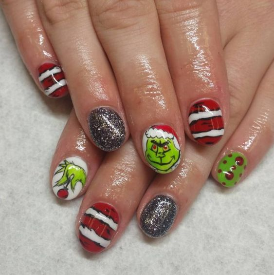 50 Creative Christmas Grinch Nails To Inspire You