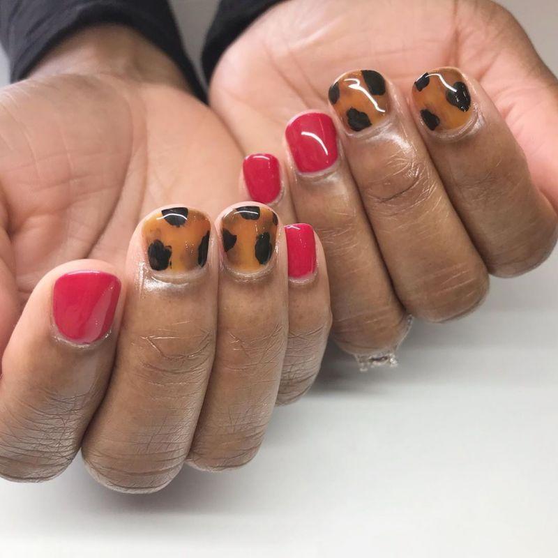 55 Trendy Tortoise Shell Nail Art Designs