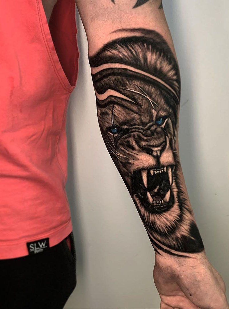 55 Pretty Lion Tattoos Show Your Temperament