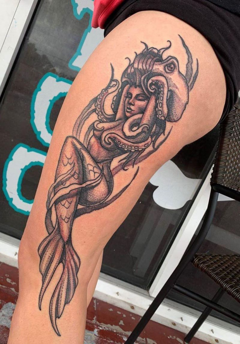 55 Pretty Mermaid Tattoos You Will Love