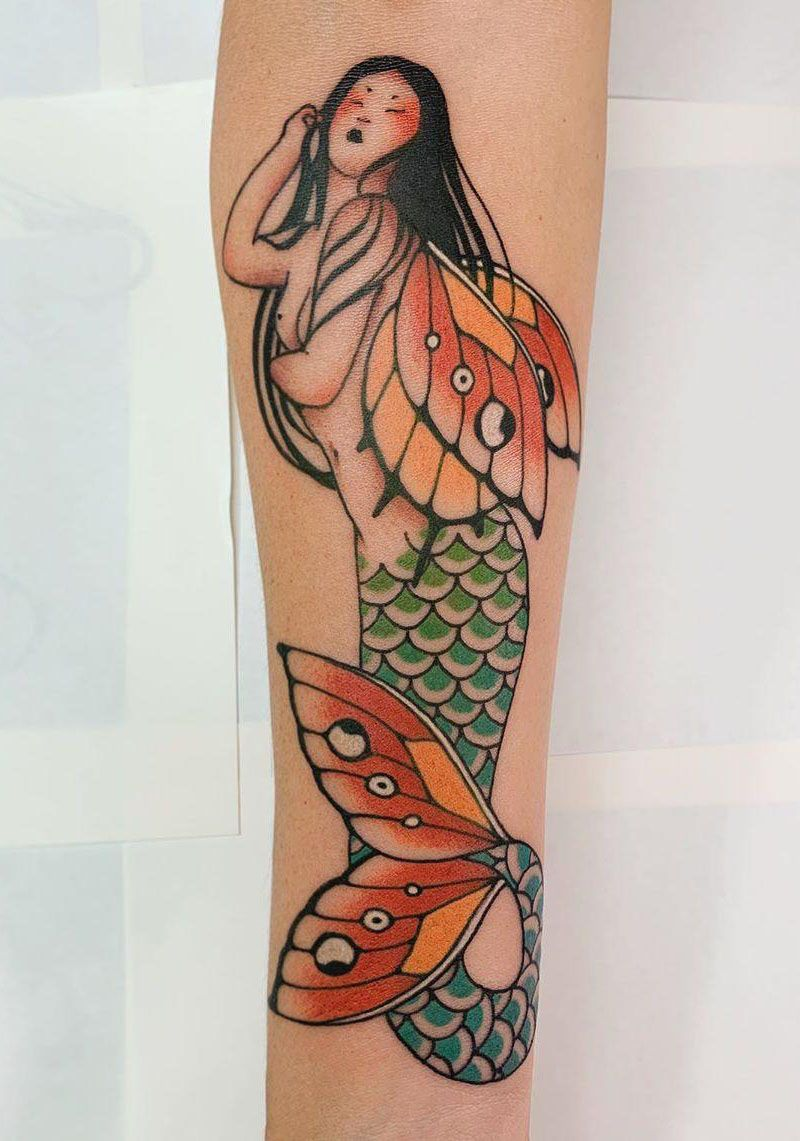 55 Pretty Mermaid Tattoos You Will Love