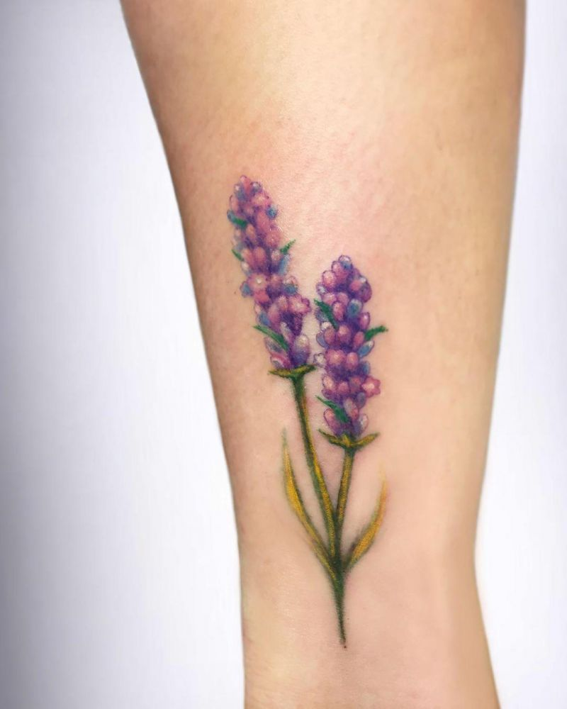 55 Perfect Lavender Tattoos that Fascinate You