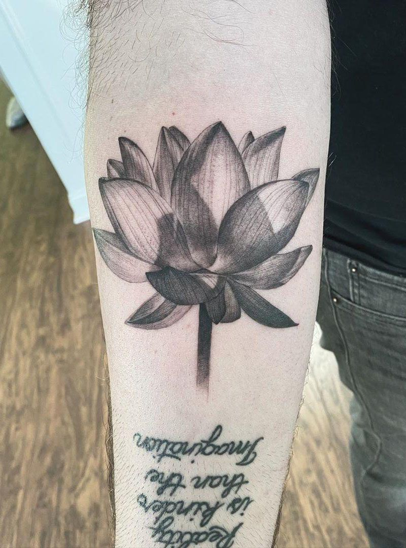 55 Pretty Lotus Flower Tattoos Enhance Your Personality