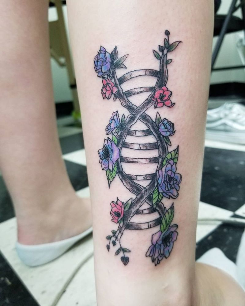50 Pretty DNA Tattoos to Inspire You