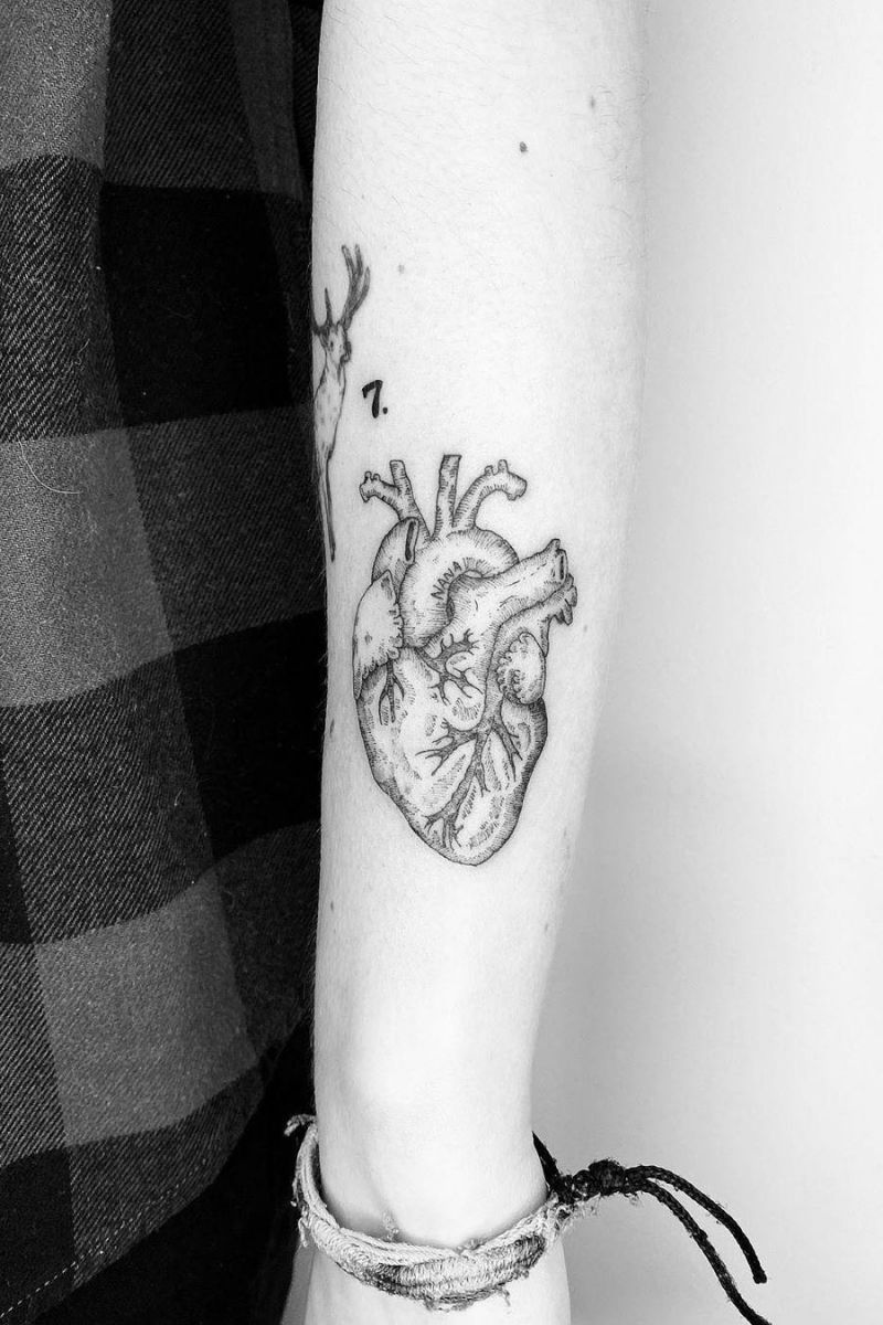 50 Vivid Anatomical Heart Tattoos to Inspire You