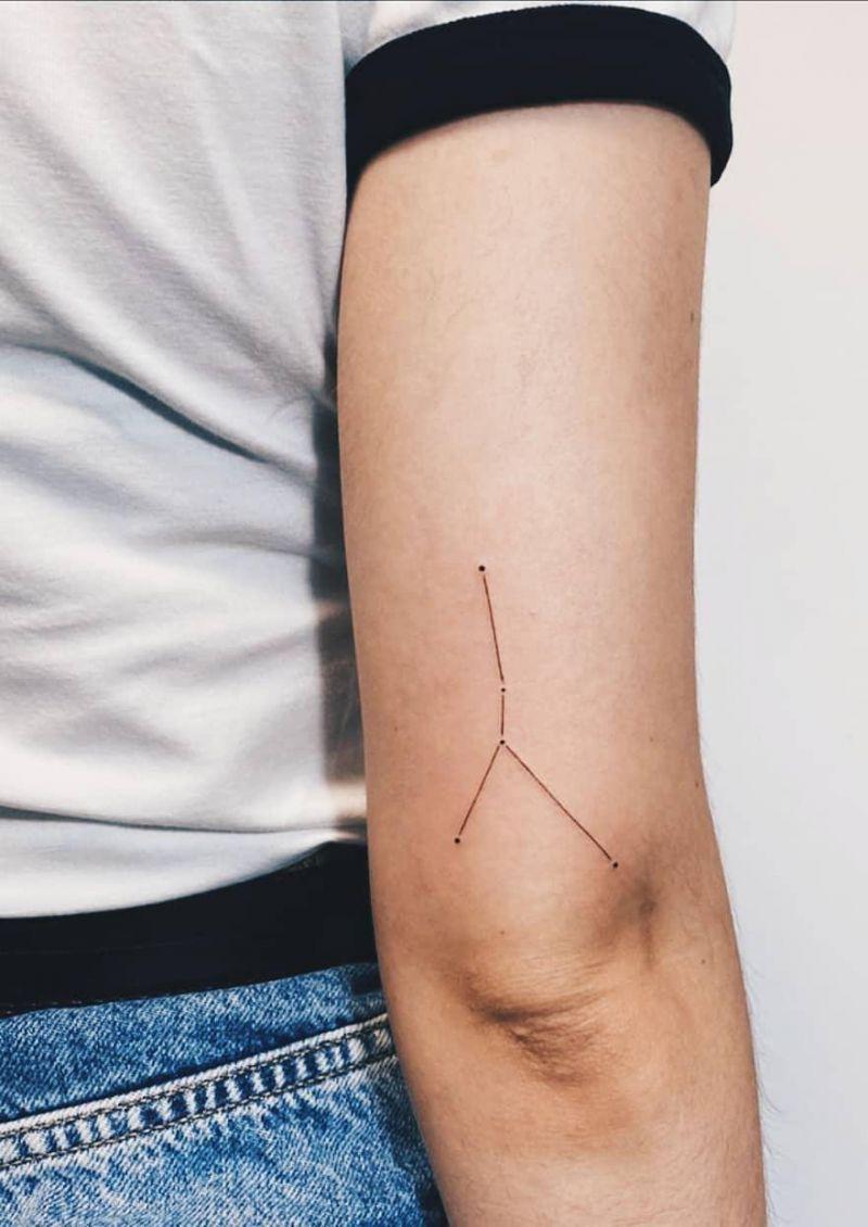 50 Pretty Constellation Tattoos Turn on Your Charm