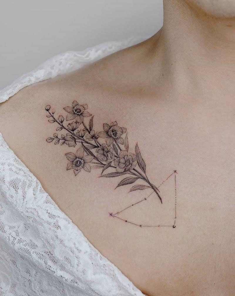 50 Pretty Constellation Tattoos Turn on Your Charm