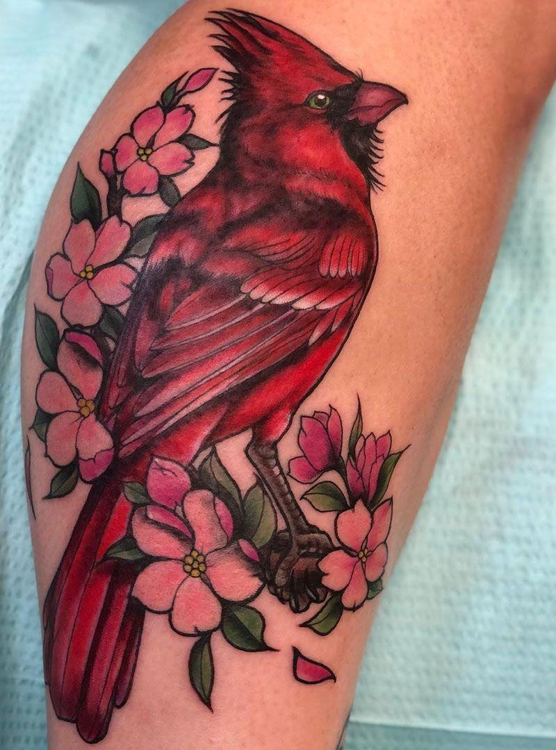 30 Pretty Cardinal Tattoos You Can't Miss