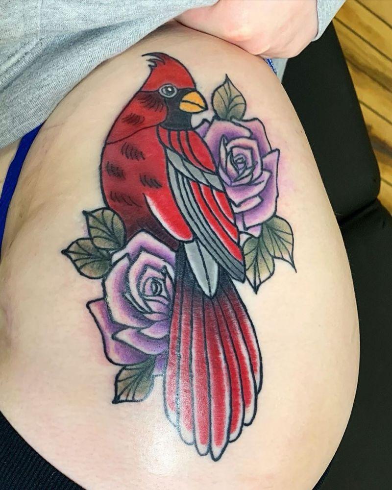 30 Pretty Cardinal Tattoos You Can't Miss
