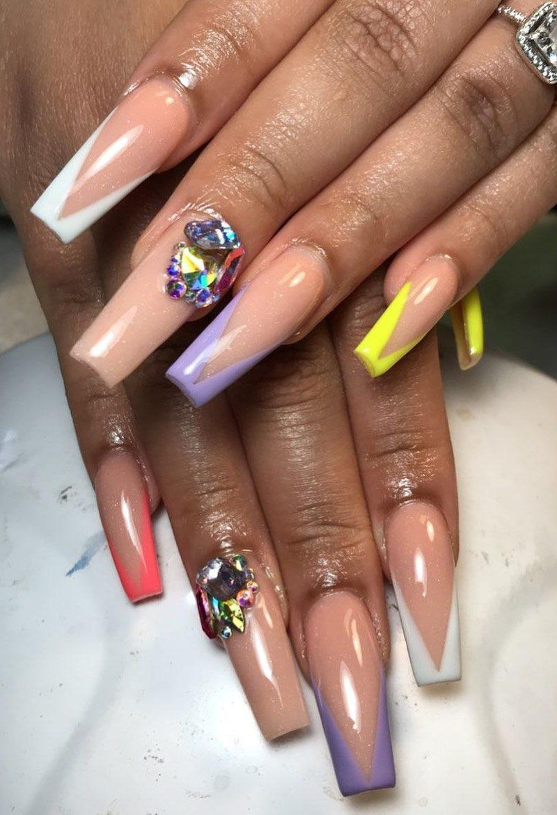 50 Pretty Acrylic Nails for Spring Make You Want to Try