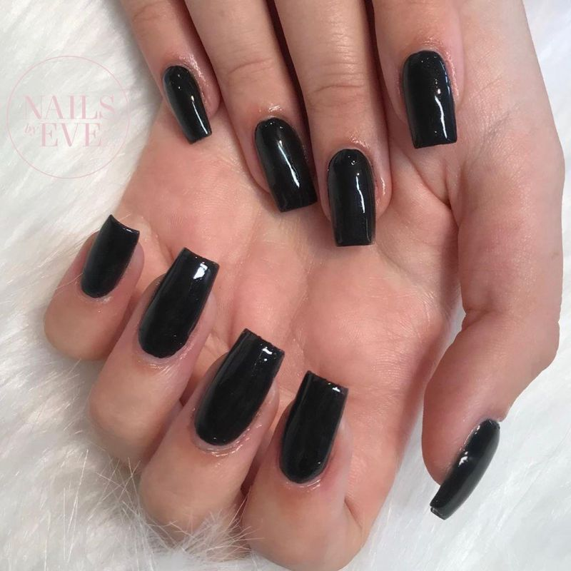 30 Trendy Black Acrylic Nails You Will Love
