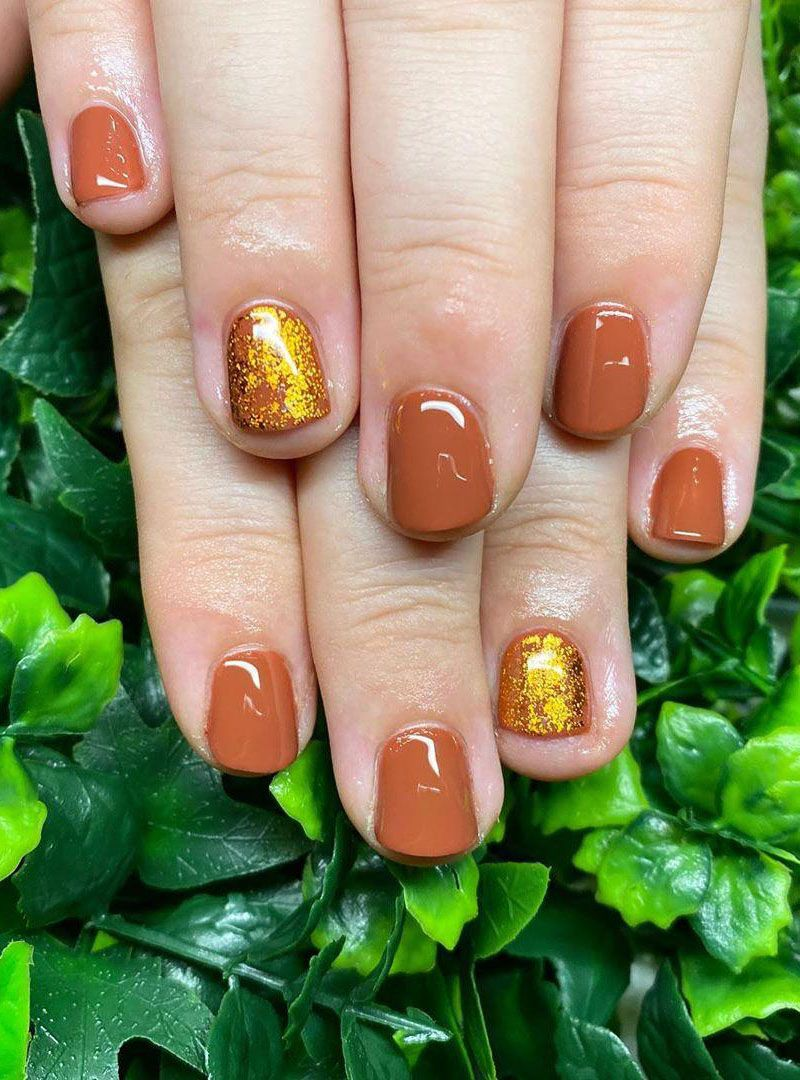 30 Trendy Copper Acrylic Nails You Can't Miss