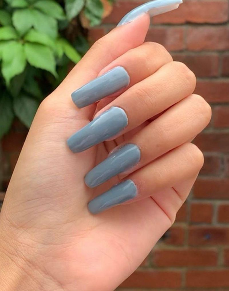 30 Elegant Grey Acrylic Nails You Have to Try