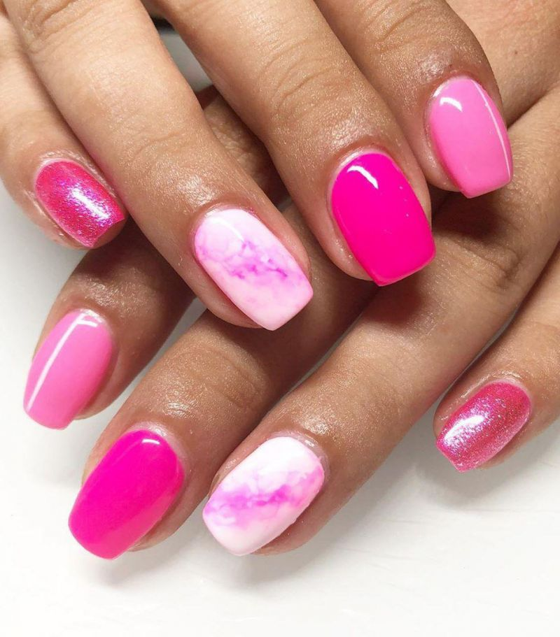 30 Trendy Marble Nail Designs for Summer