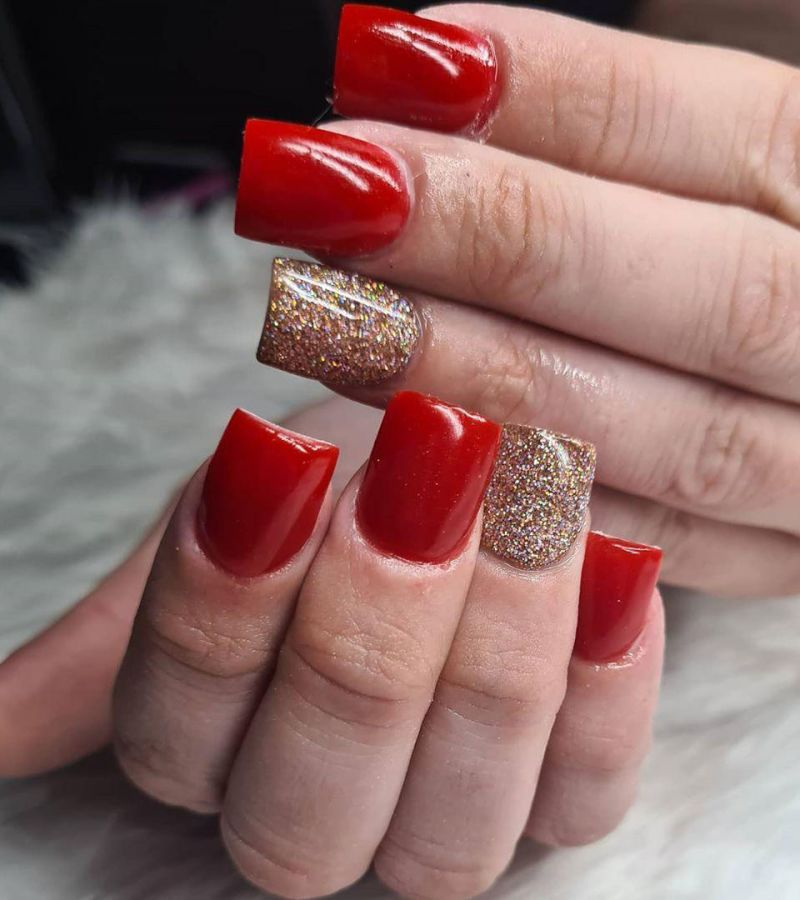 30 Trendy Red Acrylic Nails You Have to See
